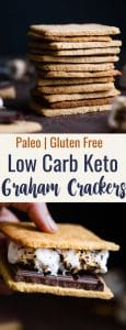 Low Carb Gluten Free Graham Crackers - These healthy, homemade keto graham crackers are SO much better than store bought that you'll never believe they are paleo friendly, sugar free and only 6 simple ingredients! | #Foodfaithfitness | #Keto #LowCarb #Glutenfree #paleo #Healthy