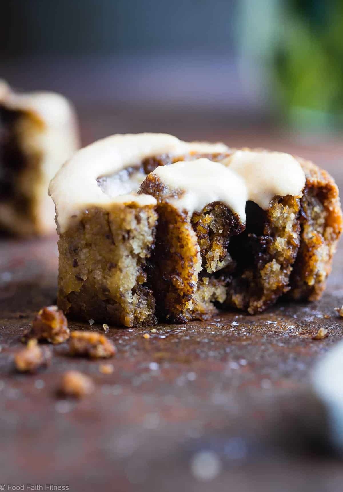 The Best Paleo Cinnamon Rolls - These gluten free cinnamon rolls area simple, wholesome remake of the classic baked good that you can't even tell is healthy, and gluten/dairy free! SO soft, fluffy and YUMMY! | #Foodfaithfitness | #Paleo #Glutenfree #Healthy #Dairyfree #Cinnamonrolls