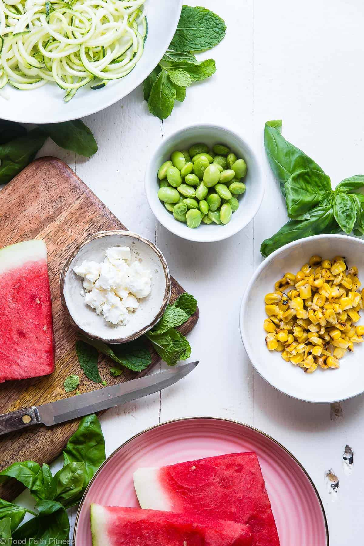 Summer Grilled Corn and Watermelon Power Bowls - Loaded with bright, fresh, Summer flavors and packed with plant based protein! These tangy, sweet and DELICIOUS bowls are going to be your go to for easy, weeknight Summer dinners! | #Foodfaithfitness | #Glutenfree #Healthy #Vegetarian #Watermelon #Corn