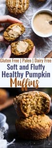Gluten Free Paleo Pumpkin Muffins - These quick and easy, healthy almond flour pumpkin muffins are SO spicy-sweet and FLUFFY! A yummy, fall breakfast or snack that kids or adults will LOVE! | #Foodfaithfitness | #Glutenfree #Paleo #Healthy #Pumpkin #Muffins