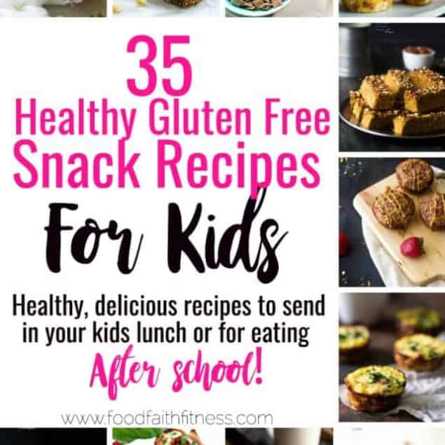 35 Gluten Free Healthy Snacks for Kids -All 35 of these kid friendly, gluten free andhealthy snacks recipesare quick, easy and great for lunchboxes or busy afternoons! Even adults will love these recipes! | #Foodfaithfitness | #Glutenfree #Healthy #Snacks #Kidfriendly