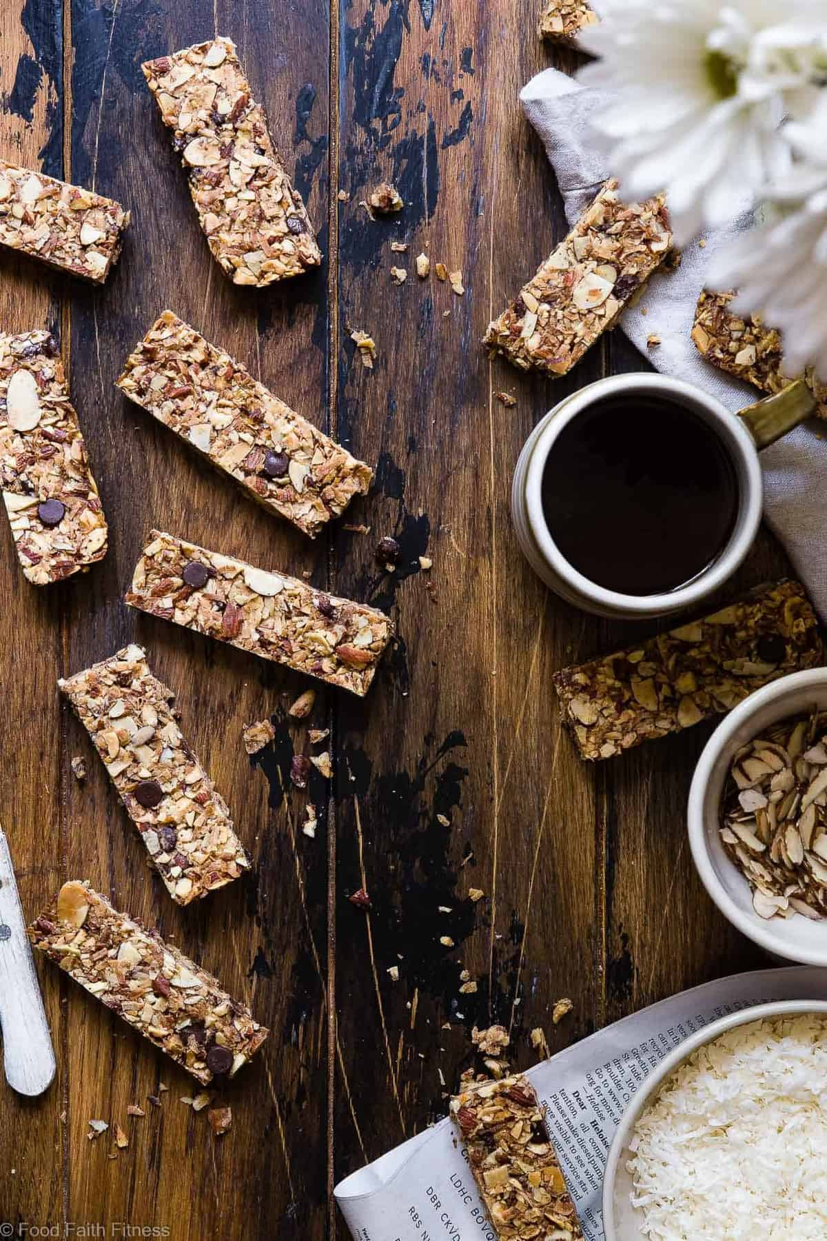 Healthy Sugar Free Keto Low Carb Granola Bars Food Faith Fitness