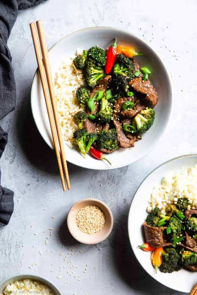 Paleo Low Carb Keto Beef and Broccoli