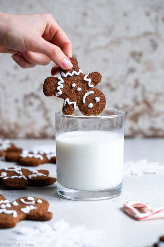 Paleo Healthy Gingerbread Cookies (Gluten Free)
