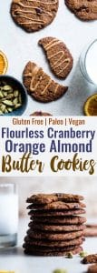 Orange Cardamom Paleo Almond Butter Cookies - SO crispy on the outside, chewy on the inside and loaded with festive flavor! You will never believe these are healthy, vegan and gluten free too! | #Foodfaithfitness | #Vegan #Glutenfree #Paleo #Almondbutter #Cookies