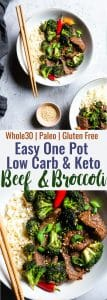 Easy Whole30 Low Carb Beef and Broccoli - This keto beef and broccoli is an EASY, one-pot weeknight meal that even picky eaters will love! So much yummier and healthier than takeout too! | #Foodfaithfitness | #Glutenfree #Keto #Paleo #Lowcarb #Whole30
