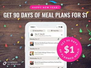Get 3 Months of Healthy Meal Plans for 1 DOLLAR! Meal plans delivered RIGHT to your phone with grocery lists and nutrition info!   #Foodfaithfitness   #MealPlans #Mealplanning #Healthy #Whole3o