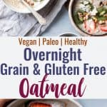 No Oats Paleo Oatmeal -This grain free oatmeal is an EASY, healthy recipe that you can make ahead for busy mornings! Loaded with healthy fat to keep you full too!   #Foodfaithfitness   #Glutenfree #dairyfree #paleo #grainfree #healthy