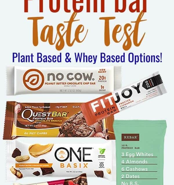 The Great Protein Bar Taste Test - We tasted 6 popular protein bars to make this protein bars review! Each are graded on taste and texture and include gluten free, plant based and whey protein bars. Come find out the best ones! | #Foodfaithfitness | #Nutrition #Healthy #glutenfree #plantbased #proteinbars