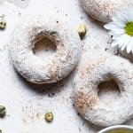 Cinnamon Baked Protein Donuts - This gluten free Healthy Protein Donuts Recipe is soft, fluffy and secretly protein packed! A perfect treat to curb your sweet tooth, and a dairy-free option is included! Great for kids and adults! | #Glutenfree #Dairyfree #Healthy #Donuts #Dessert