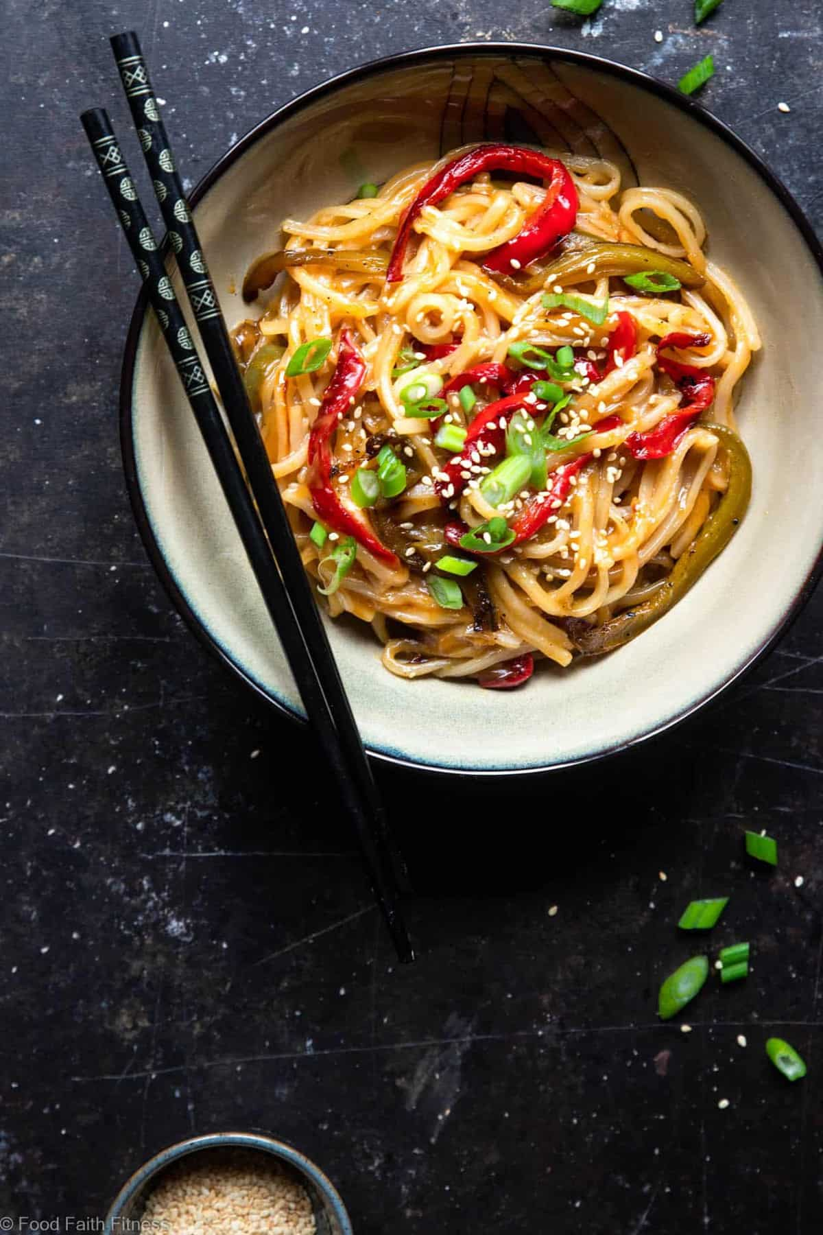 Honey Garlic Instant Pot Noodles - These Asian Instant Pot noodles are sticky, sweet and SO addicting! An EASY, gluten free dinner that even picky eaters will request! | #Foodfaithfitness | #glutenfree #InstantPot #healthy #dairyfree #vegetarian