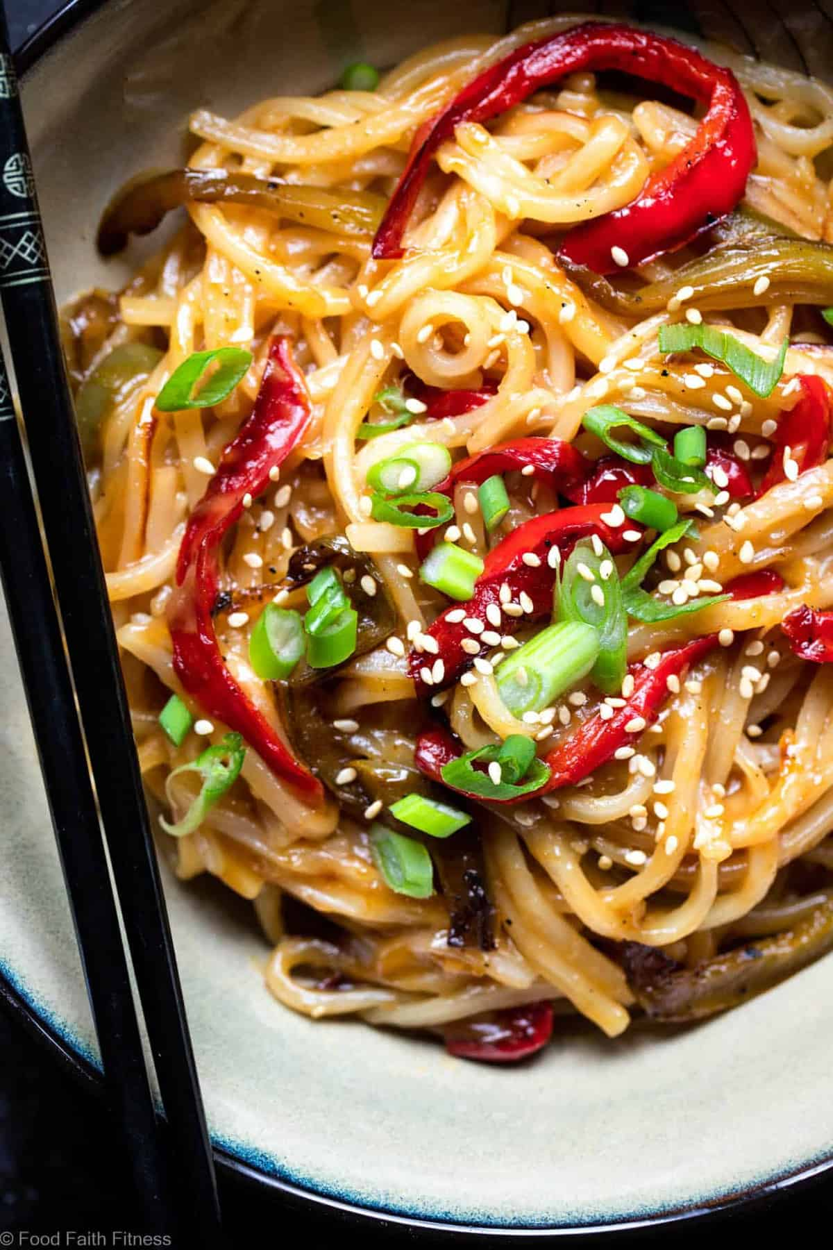 Honey Garlic Pressure Cooker Noodles - These Asian Instant Pot noodles are sticky, sweet and SO addicting! An EASY, gluten free dinner that even picky eaters will request! | #Foodfaithfitness |