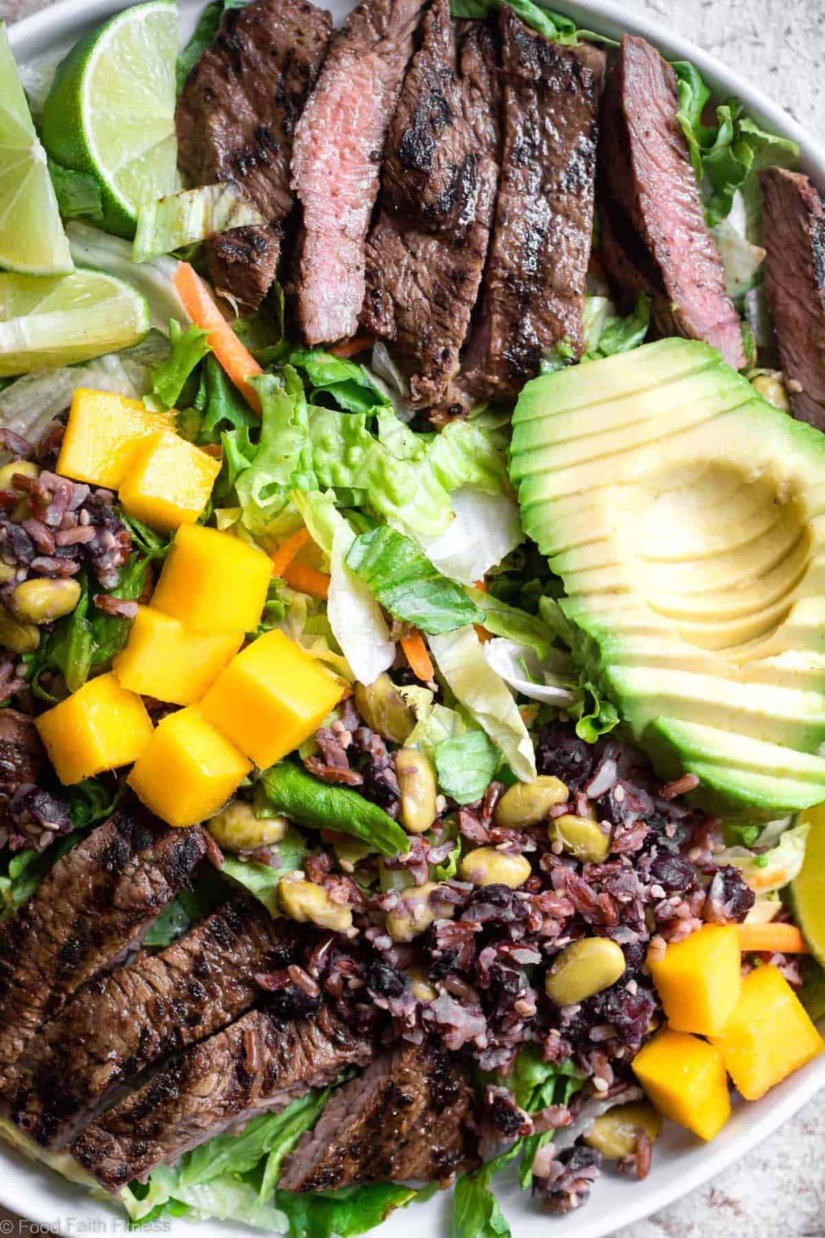 Close up of Grilled Thai Beef Salad