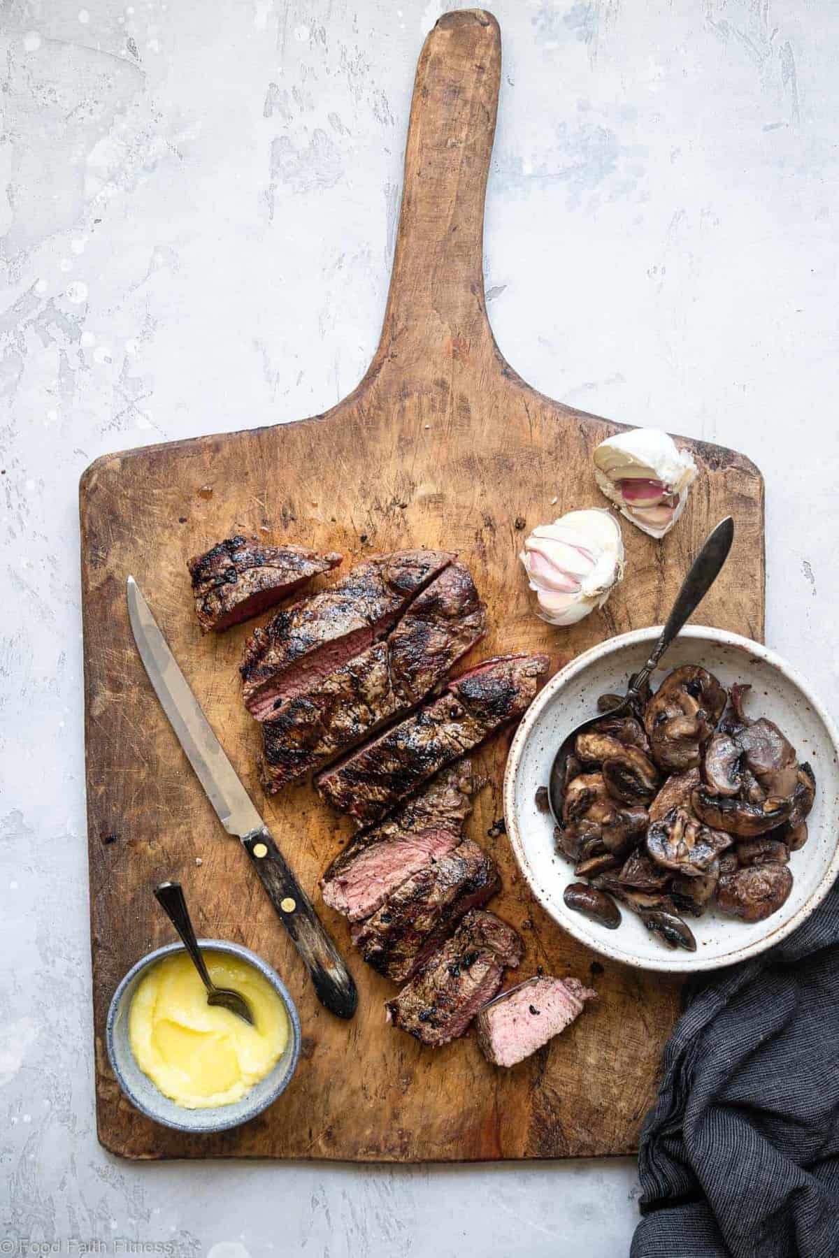 Keto Steak With Garlic Butter Mushrooms Food Faith Fitness