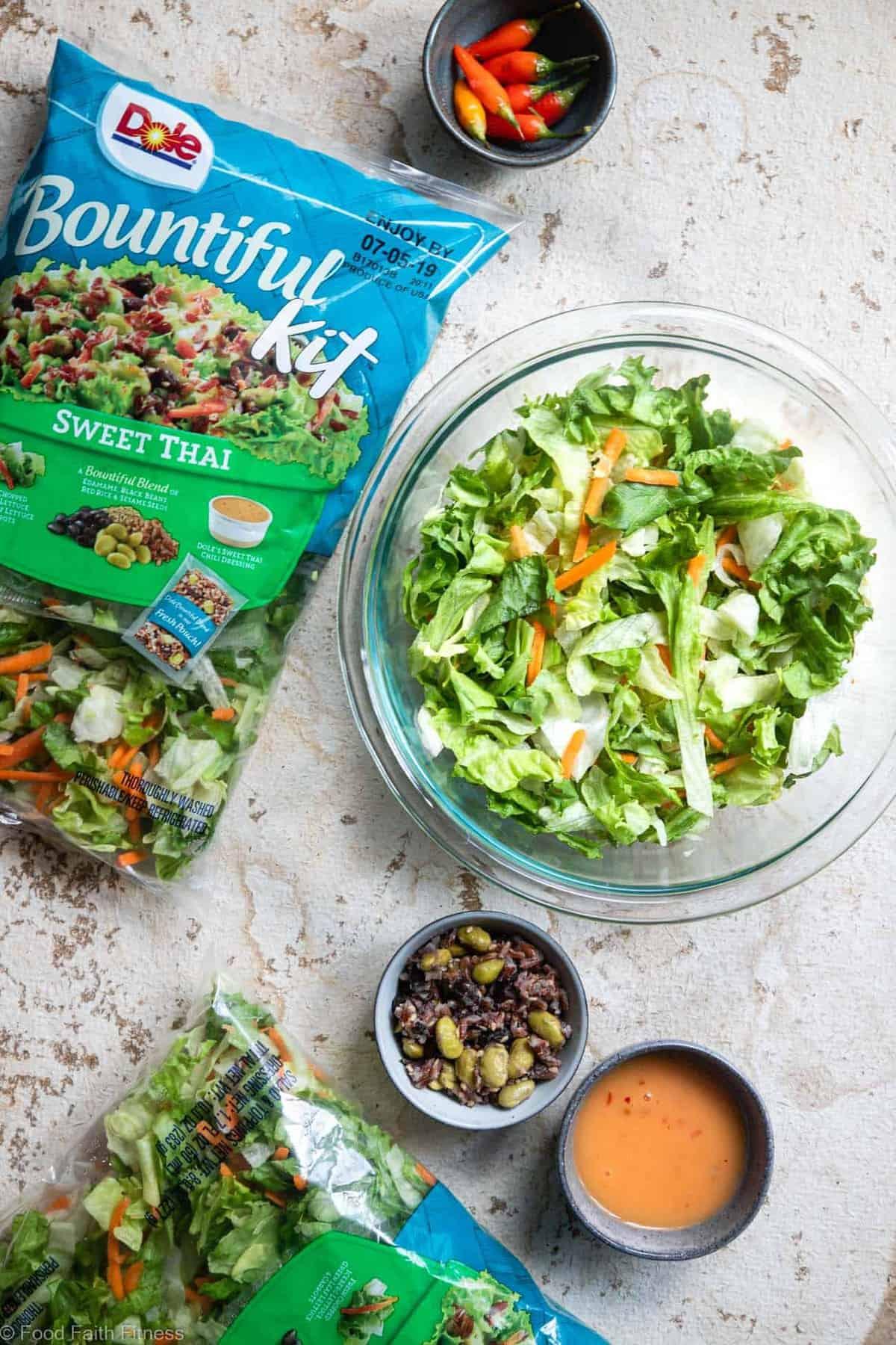 DOLE Bountiful Salad Kit in a bowl for Thai steak salad