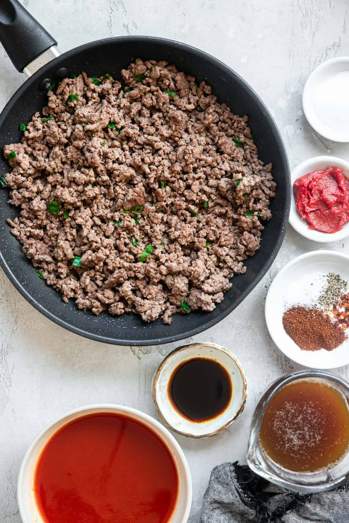 Ingredients to make Low Carb sloppy joes