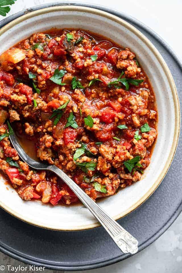 No Bean Low Carb Keto Turkey Chili