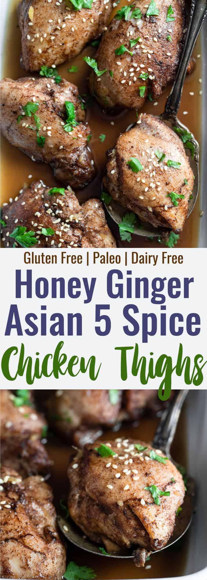 2 images of chinese 5 spice chicken