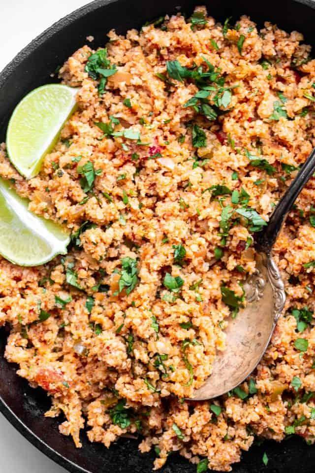Keto Mexican Cauliflower Rice Food Faith Fitness