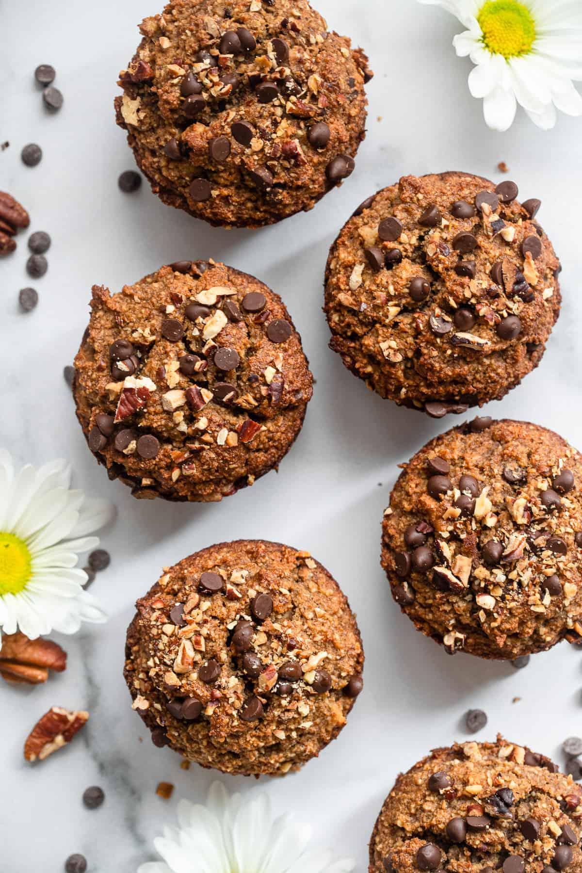 Almond Flour Paleo Banana Nut Muffins