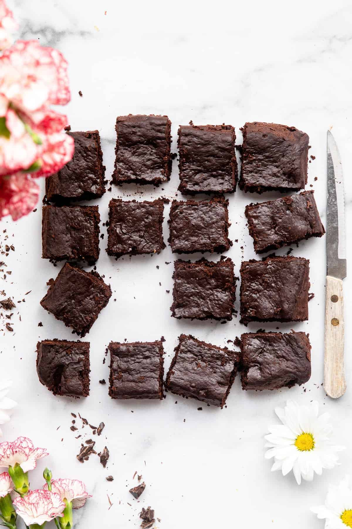 Healthy greek yogurt brownies