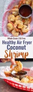 Air Fryer Coconut Shrimp collage image