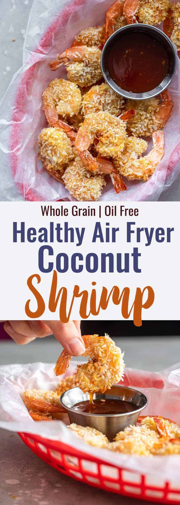 Air Fryer Coconut Shrimp collage image
