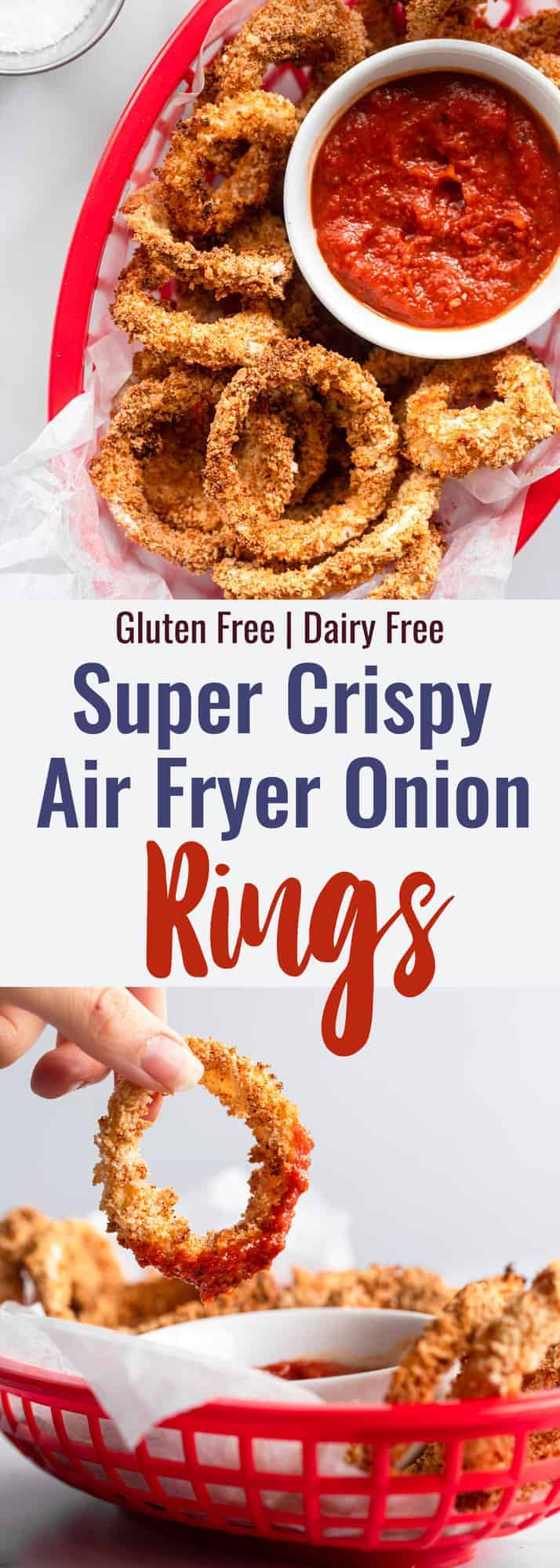 Air Fried Onion Rings collage photo