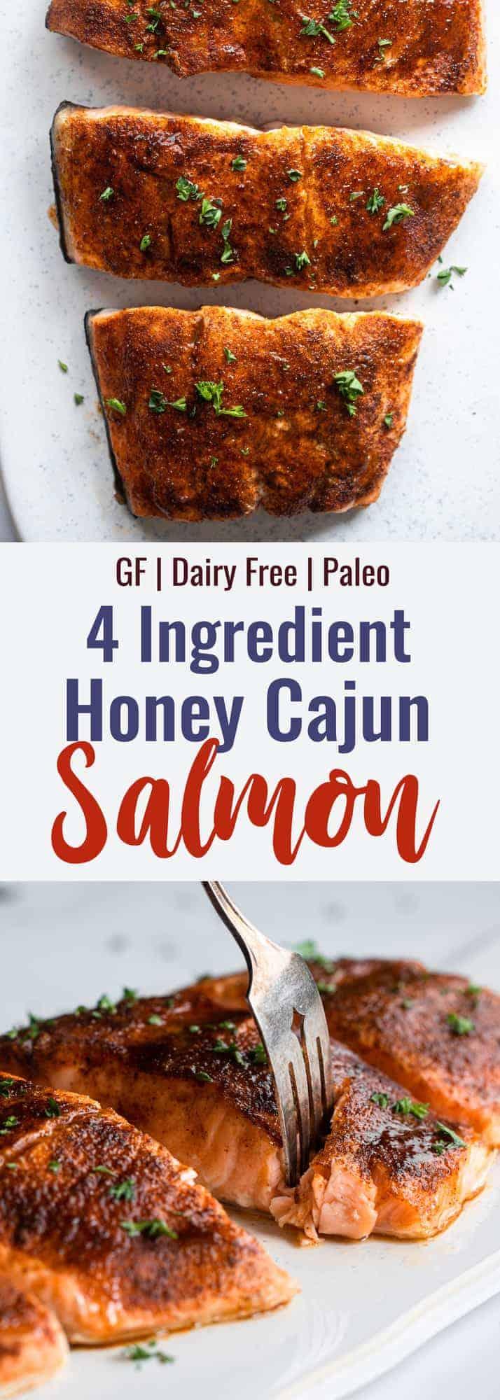 Honey Cajun Salmon collage photo