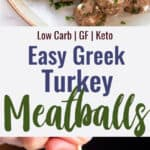 Greek Turkey Meatballs collage photo