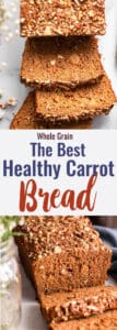 Healthy Carrot Bread collage photo