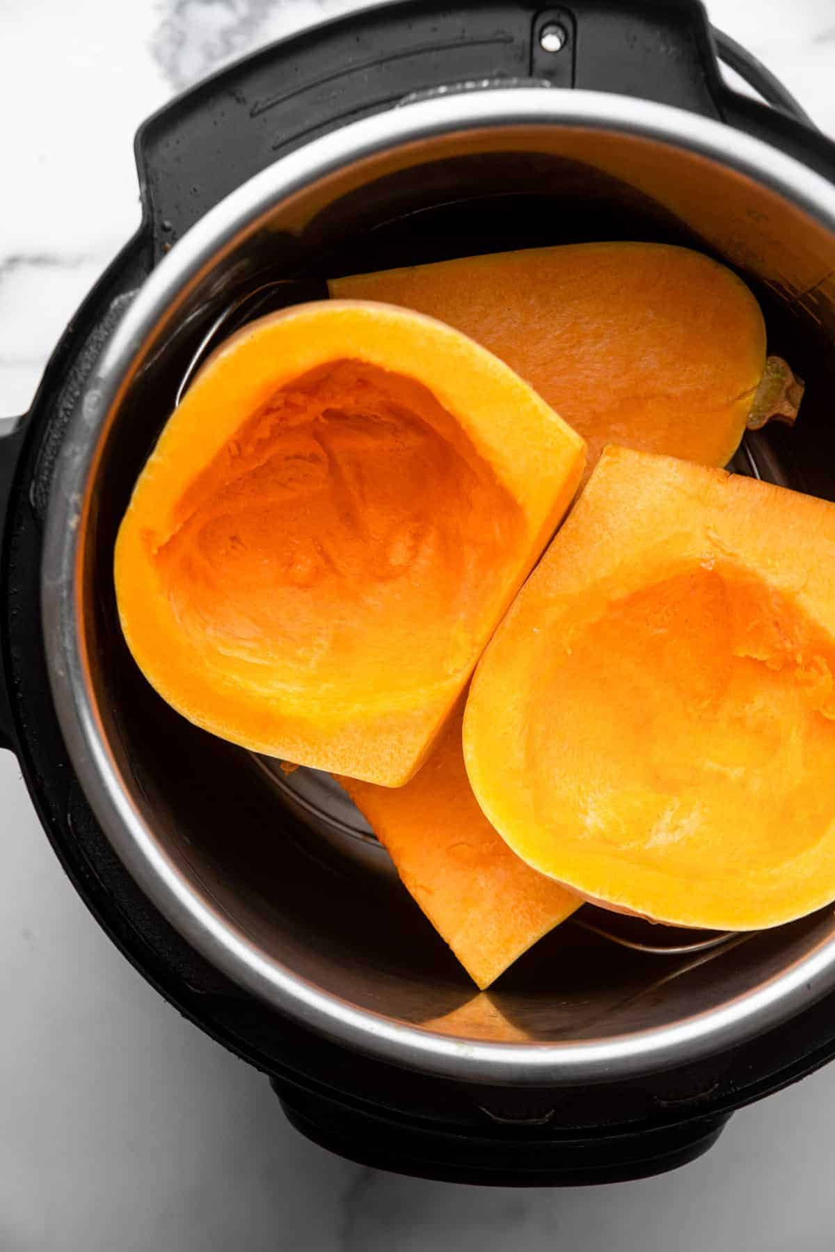 close up of Instant Pot Butternut Squash in a pot