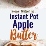 foto instantânea de colagem de manteiga de maçã