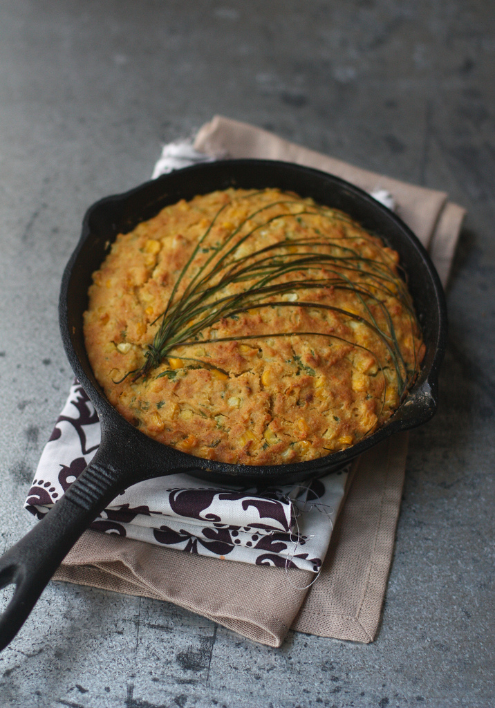 Skillet Cornbread with Jalapenos 1