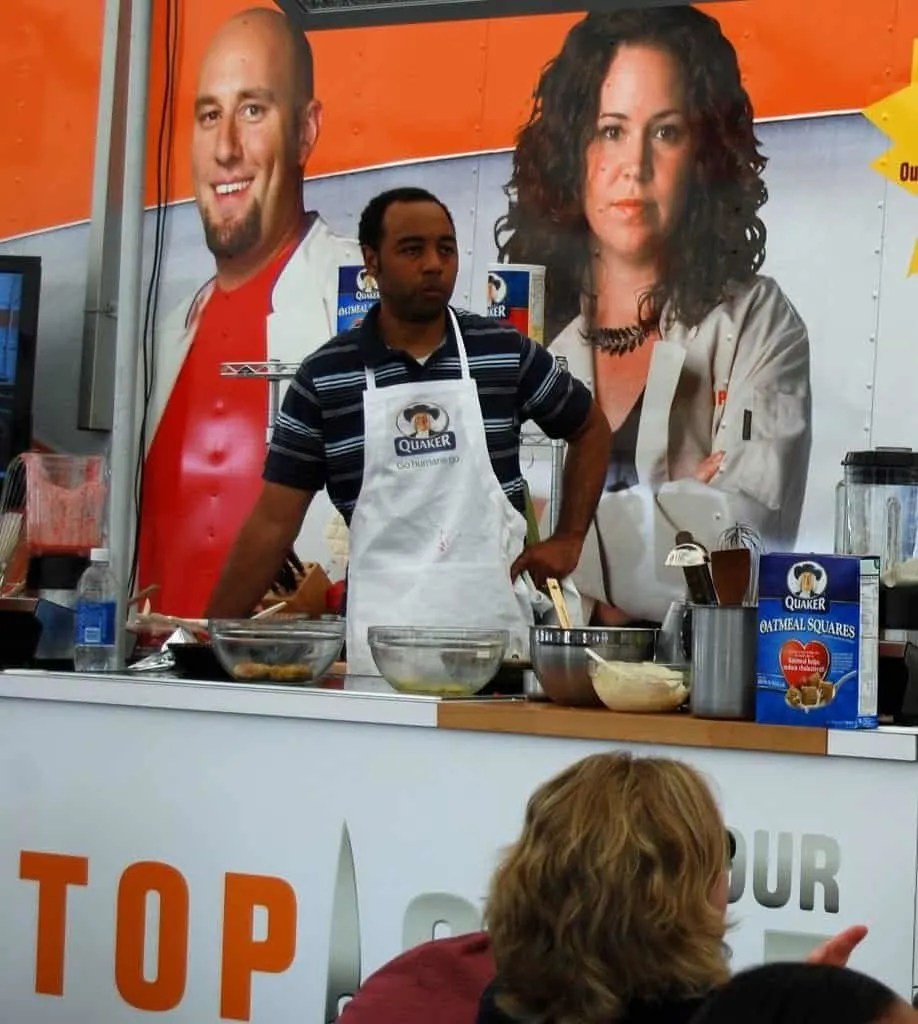 preparing to make modern soul food in top chef quickfire challenge