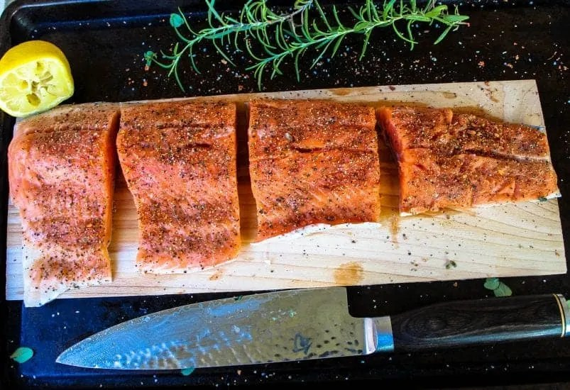 plank grilled trout