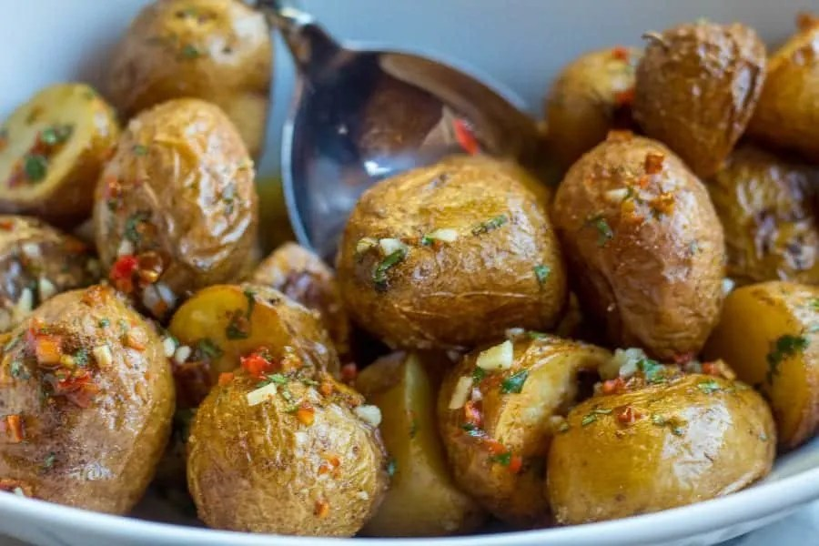 quick Roasted Potatoes with Chili Lime Sauce