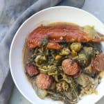 bowl of gumbo z'herbes