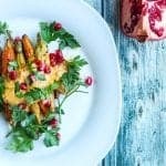 Coffee Roasted Carrots with spicy tahini sauce