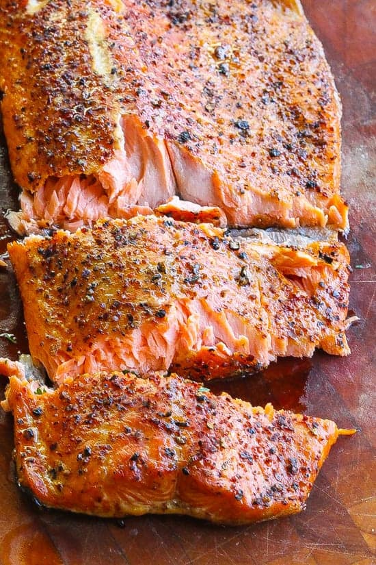Keto Smoked trout with course dry rub