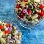 blackeyed pea salad in a bowl