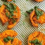 duck fat smashed sweet potatoes
