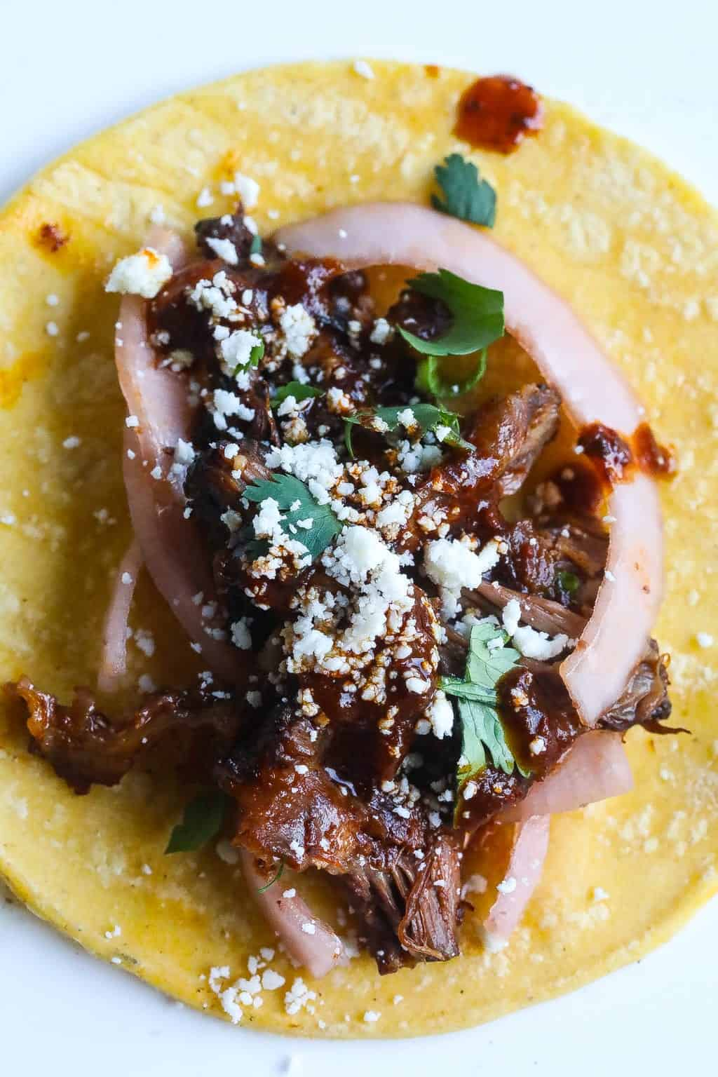 tacos made with braised beef oxtails