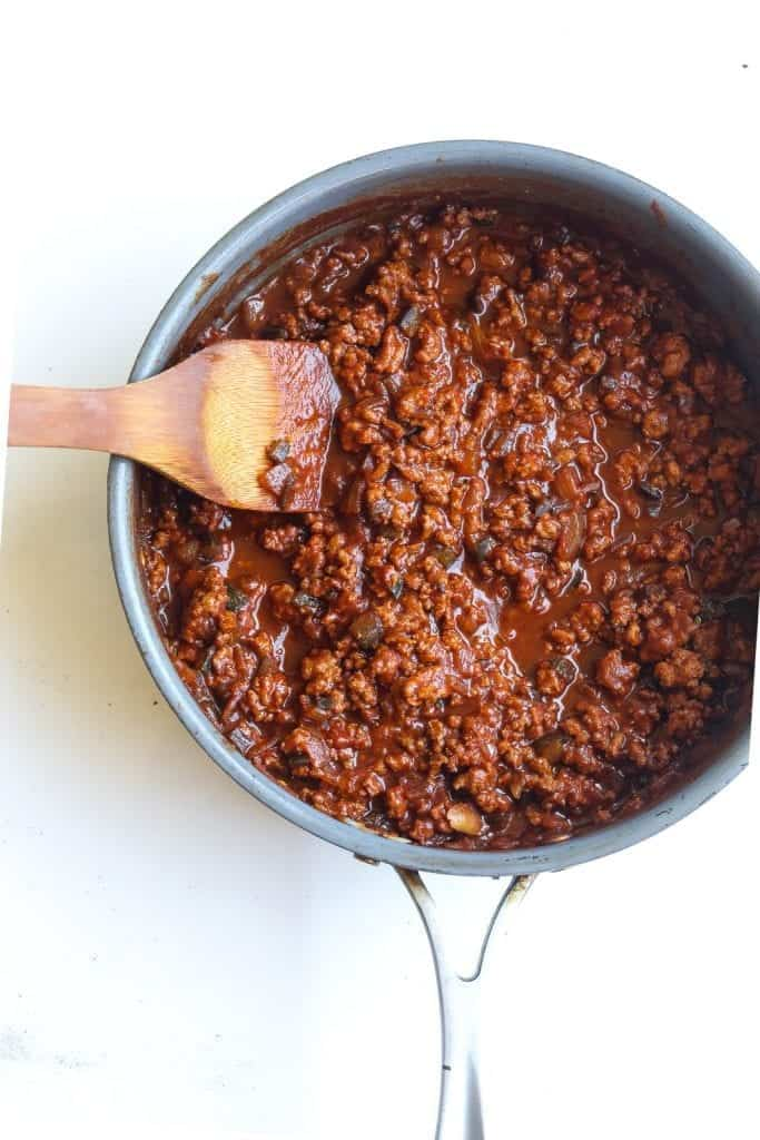 turkey sloppy joes on a plate