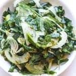 fennel salad with ripe pears and collard greens