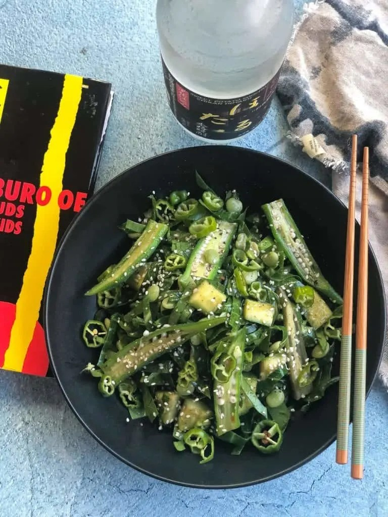 collard greens recipe with okra, cucumbers, and lima beans