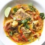 brazilian fish stew (moqueca baiana) in a bowl