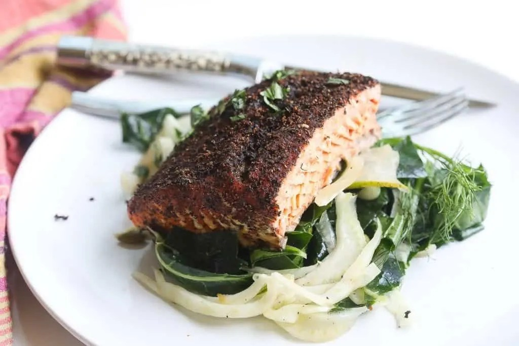 lapsang tea rubbed cedar plank grilled salmon