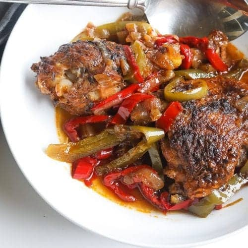 """black folk"" Jamaican brown stew chicken (instant pot)"
