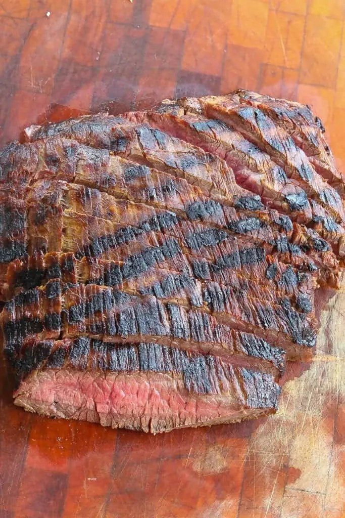 grilled flank steak sliced